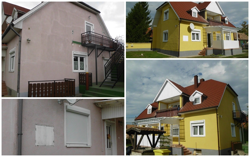 Családi ház homlokzatfelújítás